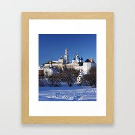 Sergiev Posad monastery (lavra) at sunny winter day Framed Art Print