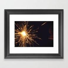 i see sparks Framed Art Print