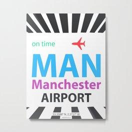 Manchester airport modern Metal Print