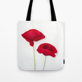 Two Red Poppies Tote Bag