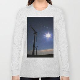 Windfarm and Blue Sky Long Sleeve T-shirt
