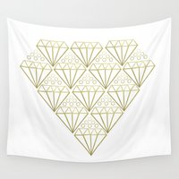 diamonds Wall Tapestries featuring DIAMONDS by Anna Eve