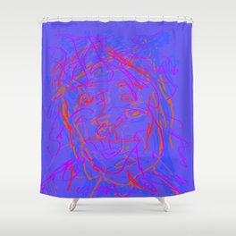a few sketchy faces Shower Curtain