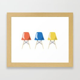Mid-Century Chairs Framed Art Print