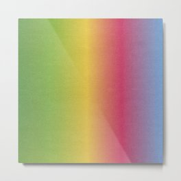 High Resolution Rainbow Patterned Paper Metal Print