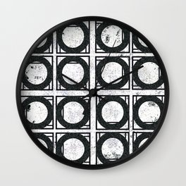 Beyond Zero in black and white Wall Clock