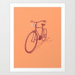 City Cruiser Bike Art Print