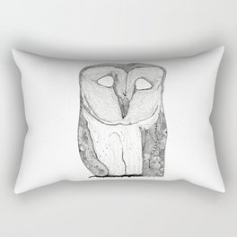 The Owl Barney Rectangular Pillow