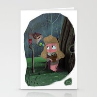 aurora Stationery Cards featuring Aurora by David Pavon