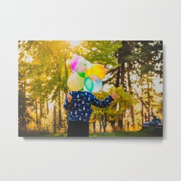 Balloon Head Metal Print