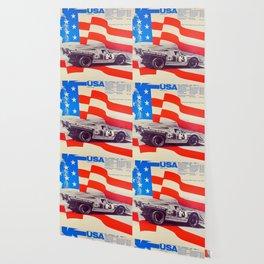 Vintage USA Racing Poster Wallpaper