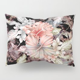 vintage designed flowers pattern and abstract painting Pillow Sham