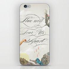 L.W.T.U.A (Love will tear us apart) iPhone & iPod Skin