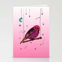 birdy Stationery Cards featuring Birdy by Gwladys R.