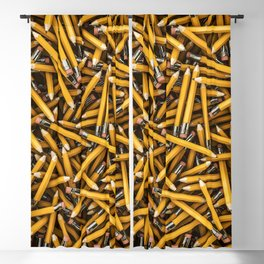 Pencil it in / 3D render of hundreds of yellow pencils Blackout Curtain