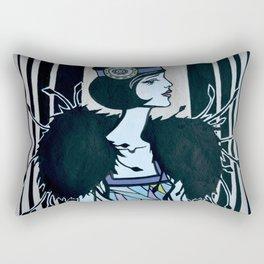 Melancholic flapper Rectangular Pillow