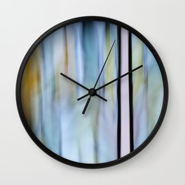 Buttery Lines (Abstract Blue) Wall Clock