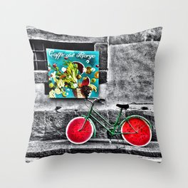 Caffe' Del Borgo Throw Pillow