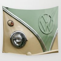 vw Wall Tapestries featuring VW Camper Classic by Alice Gosling