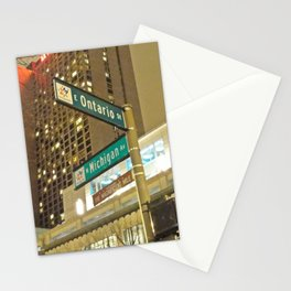 Ontario and Michigan Avenue - Chicago Stationery Cards