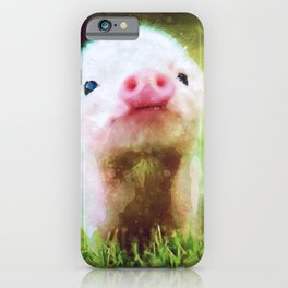 CUTE LITTLE BABY PIG PIGLET iPhone Case