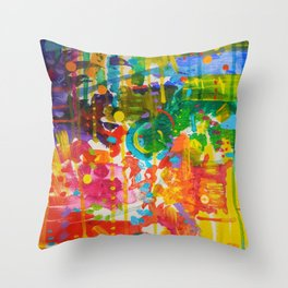 My Colour Wheel Exploded Throw Pillow