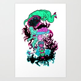 Floating Universe Eater! Art Print