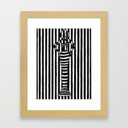 Get the Story Straight Framed Art Print