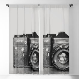 be the person you want to be vintage camera photograph Blackout Curtain