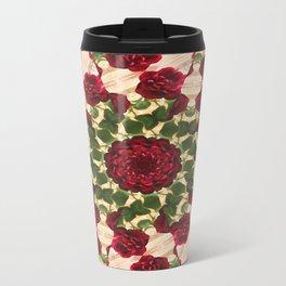 Old Red Rose Kaleidoscope 10 Travel Mug
