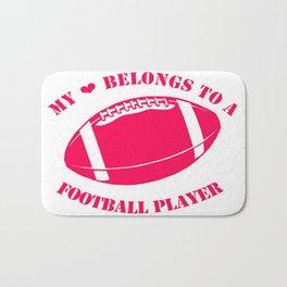 Football Girlfriend Bath Mat