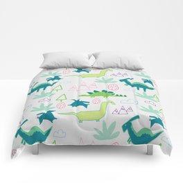 Dino Fun land Grey Comforters