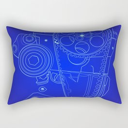 BluePrint: Gears Rectangular Pillow
