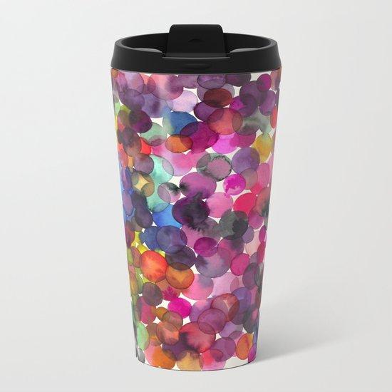 Color Dots Metal Travel Mug