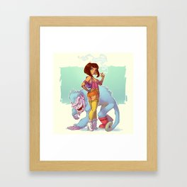 Adult Dora the Explorer Framed Art Print