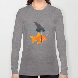 shark fish mindset confidence funny gift Long Sleeve T-shirt