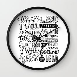 Where You Lead | Gilmore Girls Wall Clock