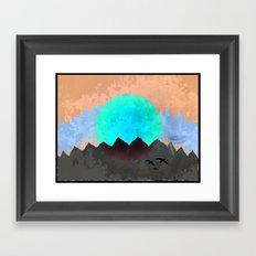 Red Moon Framed Art Print