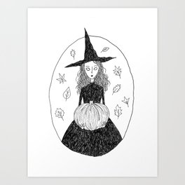 Autumn Witch Art Print