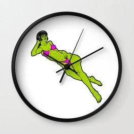 The Possessed Evil Zombie Bikini Girl Wall Clock