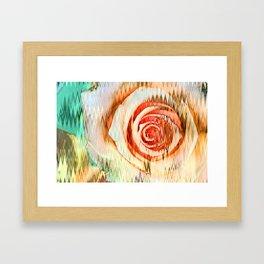 Jolted Rose Framed Art Print