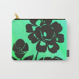 Green Silhouette Roses Varigated Background Acrylic Art Carry-All Pouch