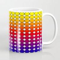 polka dot Mugs featuring Rainbow Dot Candy Polka dot by ForgottenCotton