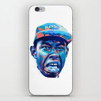 tyler the creator iPhone & iPod Skins featuring TYLER THE CREATOR: NEXTGEN RAPPERS by mergedvisible