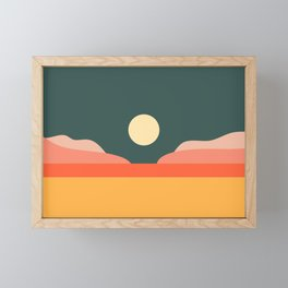 Geometric Landscape 14 Framed Mini Art Print