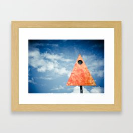 Stop and look up. Framed Art Print
