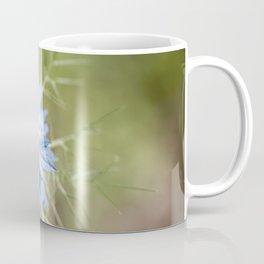 Blue flower close up Nigella love in the mist Coffee Mug