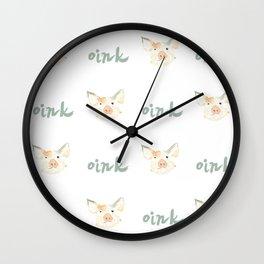 Piggie Oink Wall Clock