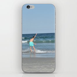 Boys on the Beach (Wrightsville Beach, NC) iPhone Skin