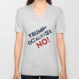 Trumpocalypse No!  Unisex V-Neck